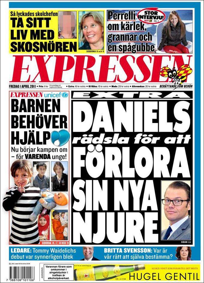 Newspaper Expressen (Sweden). Newspapers in Sweden