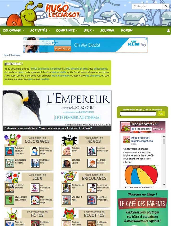 Hugo L Escargot Online Media Data